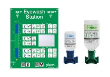 PLUM  Eye Emergency Stations with Phosphate Buffer and Sodium Chloride Solution