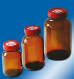 behr Labor-Technik  Wide Mouth Bottles, Clear or Amber