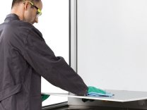 Hazardous Material Working Places with Fresh Air Curtain  asecos®